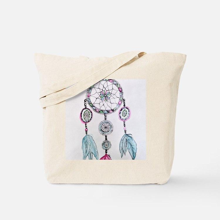 Watercolor Dreamcatcher Tote Bag