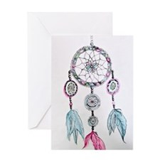 Watercolor Dreamcatcher Greeting Card