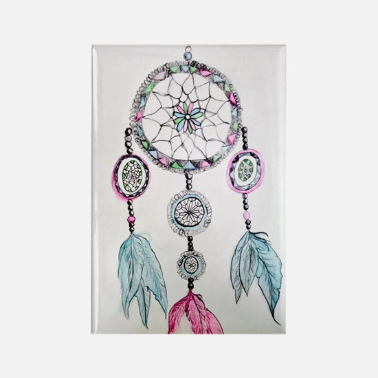 Watercolor Dreamcatcher Rectangle Magnet