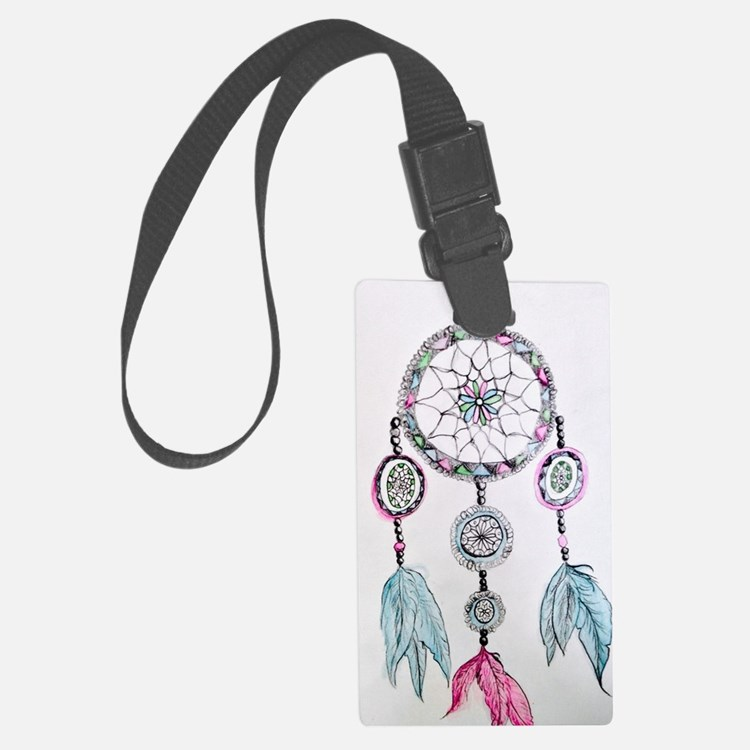 Watercolor Dreamcatcher Luggage Tag
