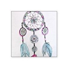 "Watercolor Dreamcatcher Square Sticker 3"" x 3"""