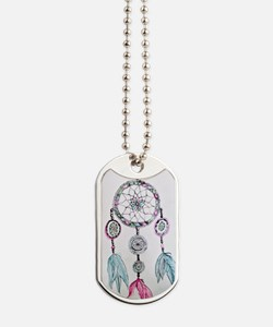 Watercolor Dreamcatcher Dog Tags