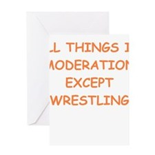 WRESTLING Greeting Cards