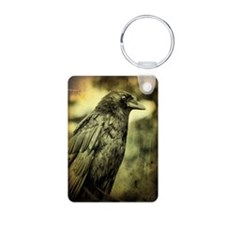 Vintage Crow Aluminum Photo Keychain