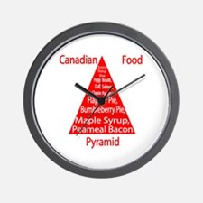 Canadian Food Pyramid Wall Clock