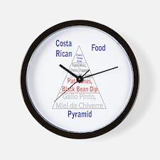 Costa Rican Food Pyramid Wall Clock