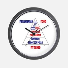 Panamanian Food Pyramid Wall Clock