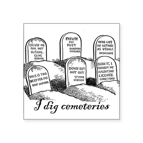 I Dig Cemeteries Oval Sticker