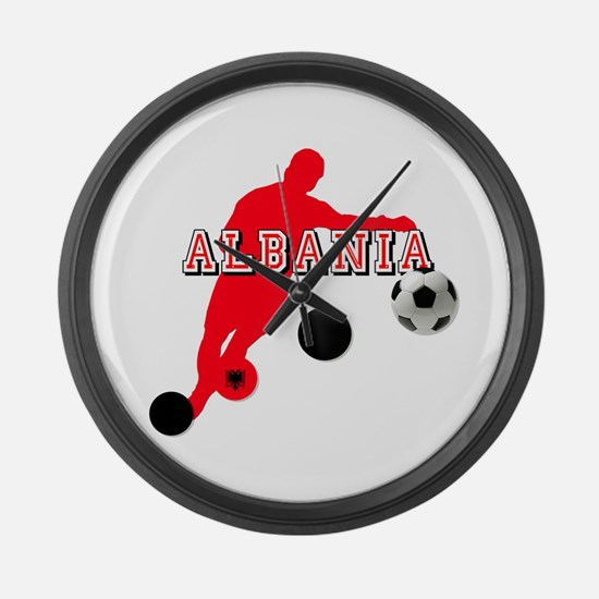 Albania Football Player Large Wall Clock