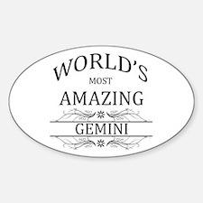 World's Most Amazing Gemini Sticker (Oval)