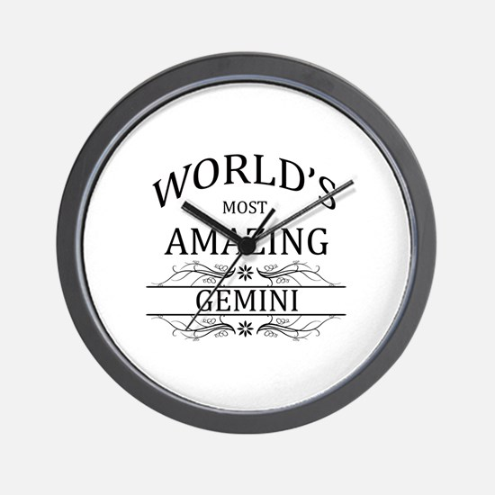 World's Most Amazing Gemini Wall Clock