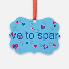 Cute Blue LOVE TO SPARKLE! Ornament