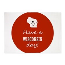 Have a Wisconsin day! 5'x7'Area Rug