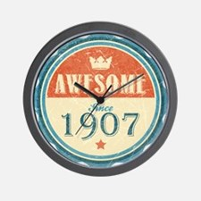 Awesome Since 1907 Wall Clock