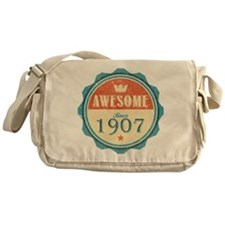 Awesome Since 1907 Canvas Messenger Bag