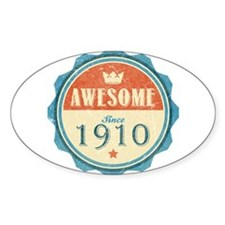 Awesome Since 1910 Oval Decal