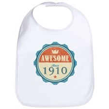 Awesome Since 1910 Bib