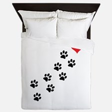 Paw Prints To My Heart Queen Duvet