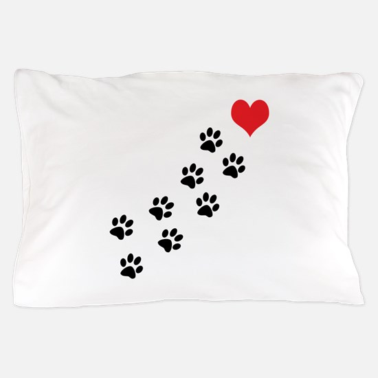 Paw Prints To My Heart Pillow Case
