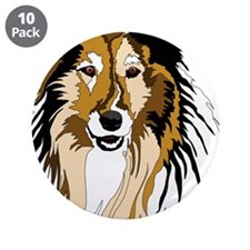 """Collie 3.5"""" Button (10 pack)"""