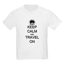 Keep Calm and Travel On Camping T-Shirt