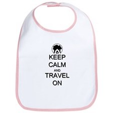 Keep Calm and Travel On Camping Bib