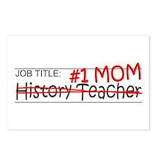 Job Mom History Teacher Postcards (Package of 8)