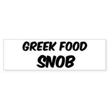 Greek Food Bumper Bumper Sticker