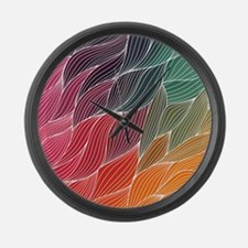 Multi Colored Waves Abstract Design Large Wall Clo