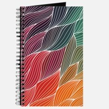 Multi Colored Waves Abstract Design Journal