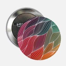 "Multi Colored Waves Abstract Design 2.25"" Button"