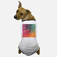 Multi Colored Waves Abstract Design Dog T-Shirt