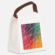 Multi Colored Waves Abstract Design Canvas Lunch B