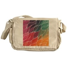 Multi Colored Waves Abstract Design Messenger Bag