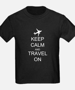 Keep Calm and Travel On Airplane T