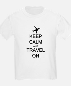 Keep Calm and Travel On Airplan T-Shirt