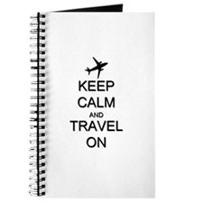 Keep Calm and Travel On Airplane Journal
