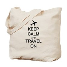 Keep Calm and Travel On Airplane Tote Bag