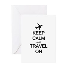 Keep Calm and Travel On Airplane Greeting Card