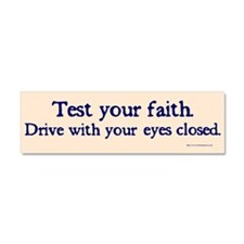 Cool Religion and beliefs Car Magnet 10 x 3