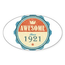 Awesome Since 1921 Oval Decal