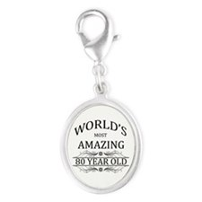 World's Most Amazing 80 Year Ol Silver Oval Charm