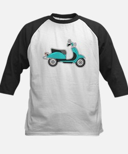 Cute Retro Scooter Blue Baseball Jersey