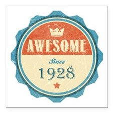 "Awesome Since 1928 Square Car Magnet 3"" x 3"""