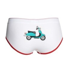 Cute Retro Scooter Blue Women's Boy Brief