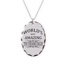 World's Most Amazing 70 Year O Necklace Oval Charm
