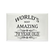 World's Most Amazing 70 Rectangle Magnet (10 pack)