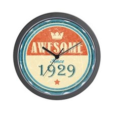 Awesome Since 1929 Wall Clock