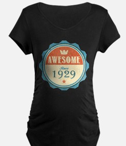 Awesome Since 1929 Dark Maternity T-Shirt