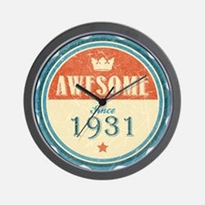 Awesome Since 1931 Wall Clock